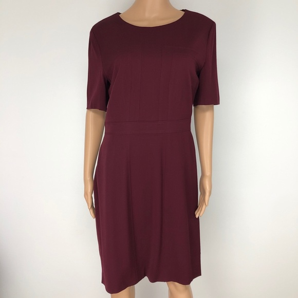 2b8d936b Hugo Boss Dresses & Skirts - Hugo Boss Merlot Color Virgin Wool Sheath Dress